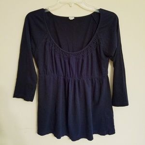 J. Crew Navy Blue Cotton Top